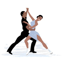 Couple ice dancing vector