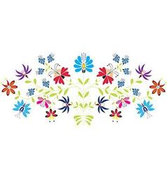Folk floral pattern vector image