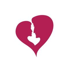 Love couple logo vector