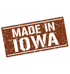 Made in iowa stamp vector