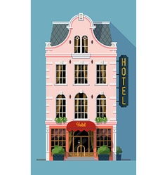 Pink Hotel Building vector image