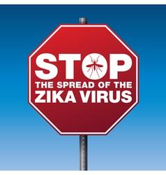 Red stop sign zka virus vector