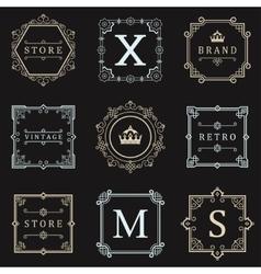 Set logos and ornament vector