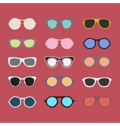Sunglasses collection colorful vector image