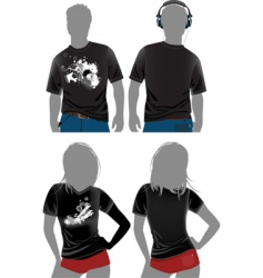 T-shirt design templates vector