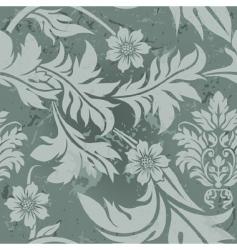 vintage floral grunge seamless wallpaper vector image vector image