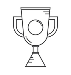 Winner Cup Line Art Icon vector image vector image