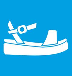 women sandale icon white vector image