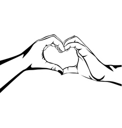 hands making heart gesture image vector image