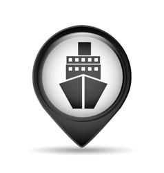 Marine pin map sign design vector