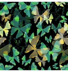 Dark seamless spring pattern vector image