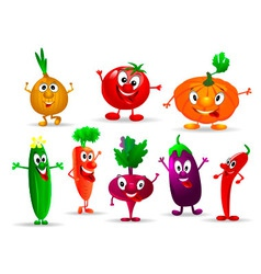 Funny vegetables vector