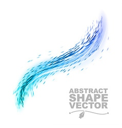 Wave abstract blue vector