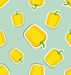 Paprika pattern seamless texture with ripe sweet vector