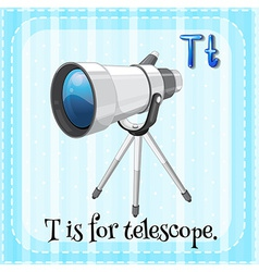 A letter t for telescope vector