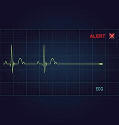 Alert heart vector