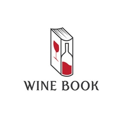 Wine book design template vector