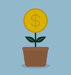 Money coint plant vector