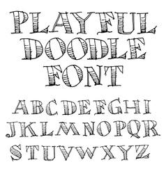 Sketchy font vector