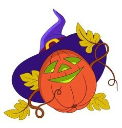 Pumpkin on halloween vector