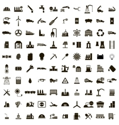 100 industry icons set vector