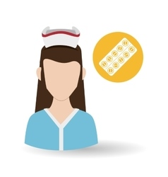 Medical care concept nurse icon white background vector