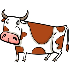 Cartoon of farm cow vector