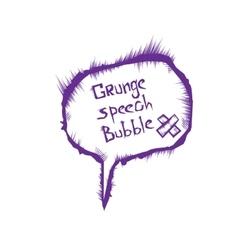 Sketch speech bubble vector