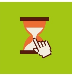 Hourglass pointer mouse time vector