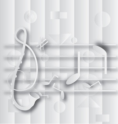 Abstract g clef and note music vector