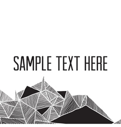 Abstract geometric modern background square frame vector