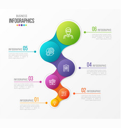 Abstract infographic design 6 steps vector