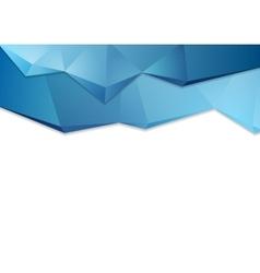 Abstract tech corporate polygonal design vector image vector image