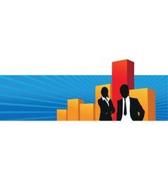 bar chart banner vector image