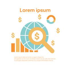 business economic infographics set statistic data vector image vector image