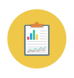 Chart graph analytics report clipboard vector