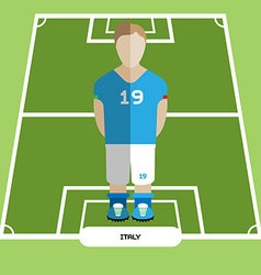 Computer game italy soccer club player vector