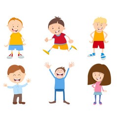 cute cartoon children set vector image