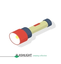 Flashlight to illuminate the camp vector image