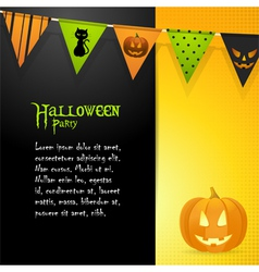 Halloween pumpkin panel background vector