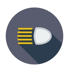 Headlight icon vector