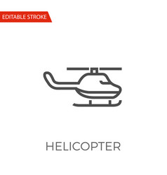 helicopter icon vector image