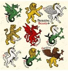Heraldic beasts vector