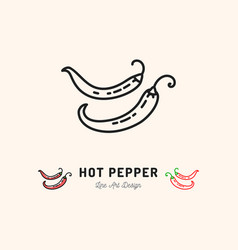 hot pepper chili icon mexican food vector image