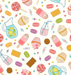 Make it sweet seamless pattern vector image vector image
