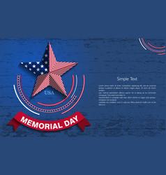 memorialday6 vector image vector image