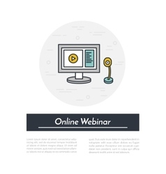 outline of webinar online vector image
