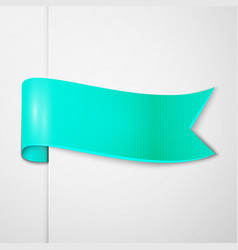 Realistic shiny cyan ribbon isolated vector