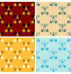 seamless colored figures pattern set vector image vector image