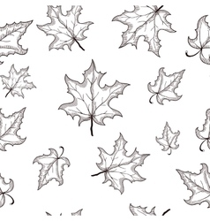 seamless pattern with hand drawn black vector image vector image